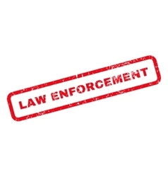 Law Enforcement Text Rubber Stamp vector image vector image