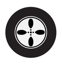 car wheel on white background vector image