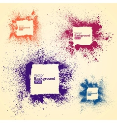 Color frames in a grunge vector image vector image