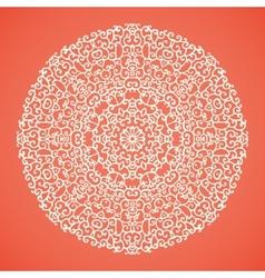 Round mandala lace ornamental background vector image vector image