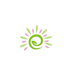 beauty green leaf nature logo vector image vector image