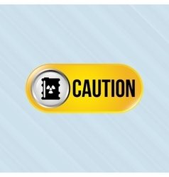caution sign design vector image