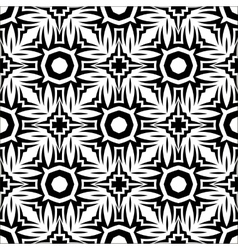 Decorative retro black white seamless pattern vector