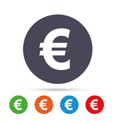 euro sign icon eur currency symbol vector image vector image