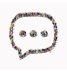 group people shape chat bubbles vector image
