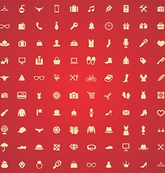 100 accessories icons vector image