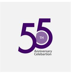 55 th anniversary celebration template design vector