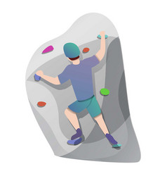 active wall climbing icon cartoon style vector image