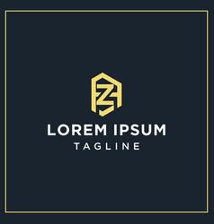 Az or za monogram logo vector