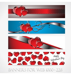 Banners for web Love collection9 vector image
