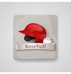 baseball helmet and icon vector image