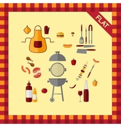 BBQ icon set vector