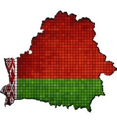 Belarus map with flag inside vector image