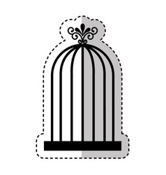 bird cage isolated icon vector image