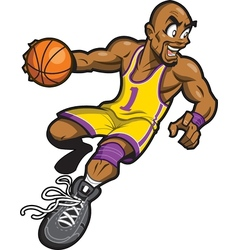 Black Basketball Player vector