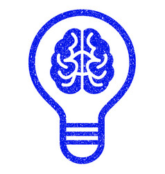 Brain bulb grunge icon vector