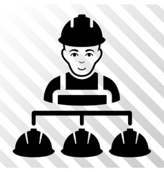 Builder Management Icon vector