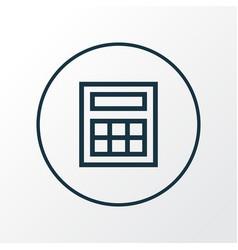 Calculate icon line symbol premium quality vector