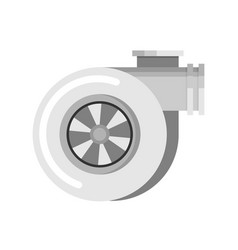 Car turbo flat icon vector