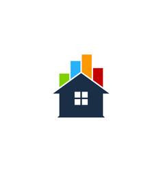 chart house logo icon design vector image