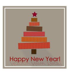 christmas greeting card christmas tree made of vector image