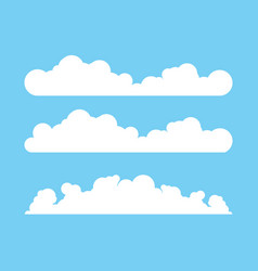 cloud template design vector image