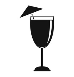 Cocktail umbrella icon simple style vector