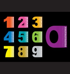 Copy space numbers vector image