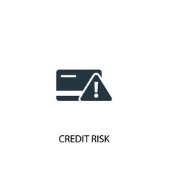 Credit risk icon simple element vector
