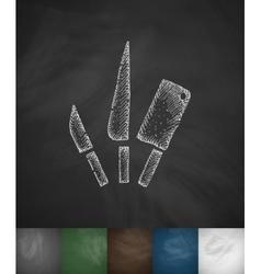 cutlery icon Hand drawn vector image