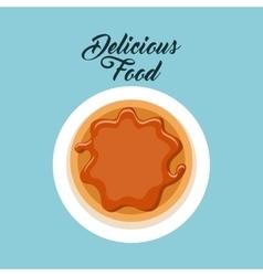 delicious food dish menu icon vector image