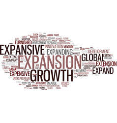 Expansive word cloud concept vector