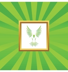 Flying bird picture icon vector