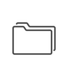 folder icon line symbol vector image