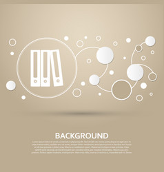 Folder icon on a brown background with elegant vector
