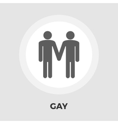 Gay sign flat icon vector image