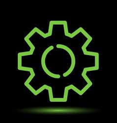 Gear neon icon vector