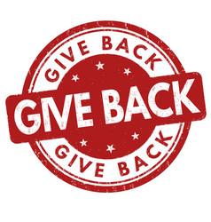 Give back grunge rubber stamp vector