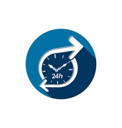 Graphic web 24 hours timer around-the-clock vector image