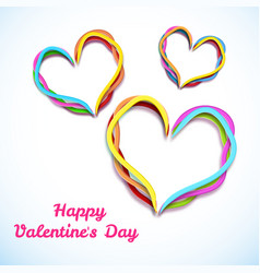 greeting valentines day template vector image