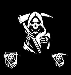 grim reaper symbol vector image