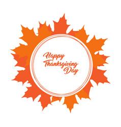 happy thanksgiving day natural label vector image