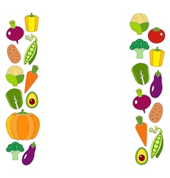 Healthy diet flat style with fresh organic vector