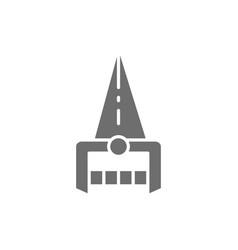 Indian katar dagger weapon grey icon vector