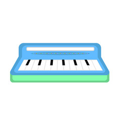 isolated keyboard toy icon vector image