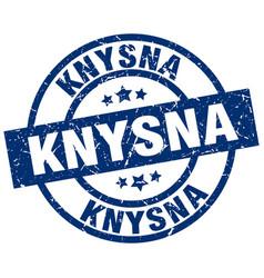 Knysna blue round grunge stamp vector