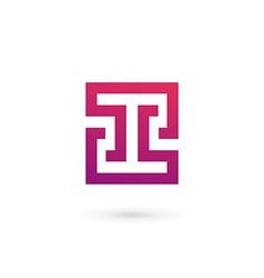 Letter I number 1 logo icon design template vector