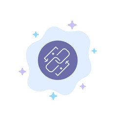 Link chain url connection link blue icon on vector