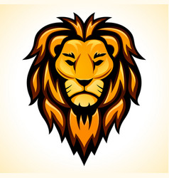 Lion head color design vector