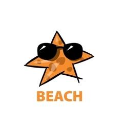 Logo beach vector